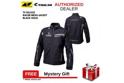 RS Taichi RSJ325 Racer Mesh Jacket Black Gold