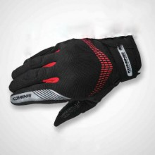 Komine GK-228 GE Protect Mesh Glove Black Red