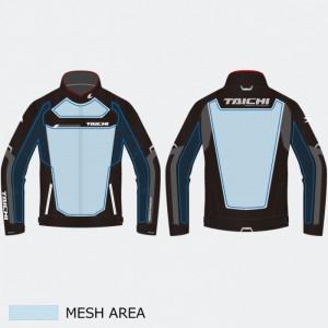 RS Taichi RSJ325 Racer Mesh Jacket Black White
