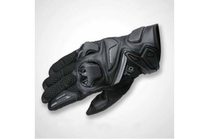 Komine GK-234 Protect Leather Mesh Gloves Black