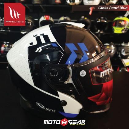 MT Helmet Jet A7 Gloss Pearl Blue