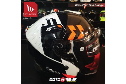 MT Helmet Jet A4 Gloss Fluo Orange