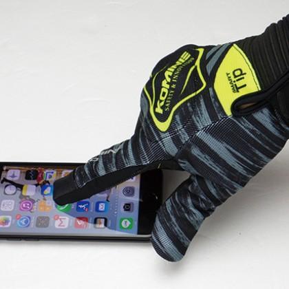 KOMINE GK-219 Protect Mesh Gloves Brave (Neon/Yellow)