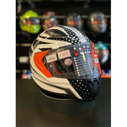 LS2 FF353 Rapid Carborace White Black