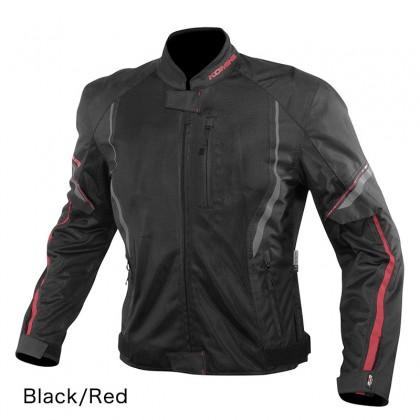 Komine JK-146 Protect Half Mesh Jacket (Black/Red)