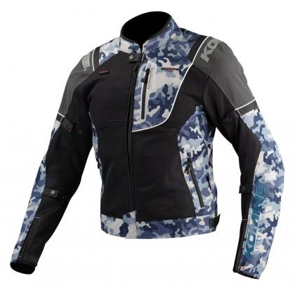 Komine JK-125 Reflect Riding Mesh Jacket Blue Gray Camo