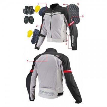 Komine JK-127 Protect Half Mesh jacket Blue Camo