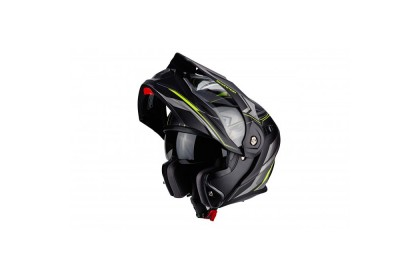 Scorpion Exo Adx-1 Anima Matte Black Yellow Helmet