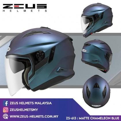 ZEUS ZS- 613 NEW DESIGN 2021 MATT CHAMELEON AJ22 PURPLE