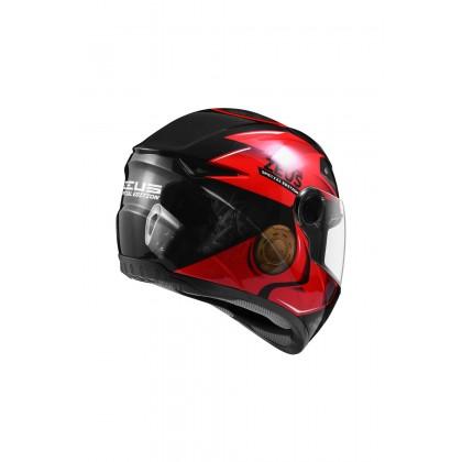 ZEUS ZS- 811 BLACK AL39 RED
