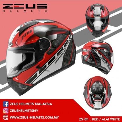 ZEUS ZS- 811 RED AL41 WHITE