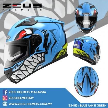 ZEUS ZS- 813 BLUE AN31 GREEN