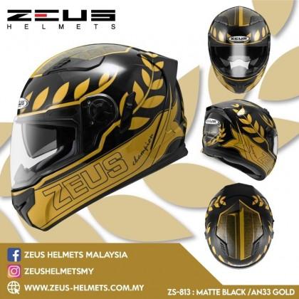 ZEUS ZS- 813 MATTE BLACK AN32 GOLD