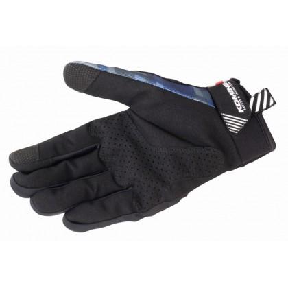 Komine GK-233 Protect Riding Mesh Gloves Plaid Navy