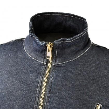KOMINE JK-153 Protect Denim Single Jacket (Wash Indigo)