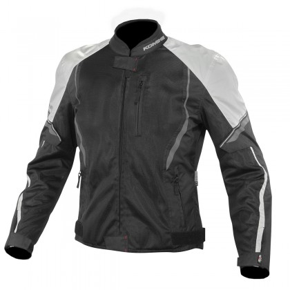 Komine JK-146 Protect Half Mesh Jacket (Light Gray Black)