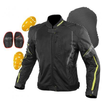 Komine JK-146 Protect Half Mesh Jacket Women (Light Gray Black)