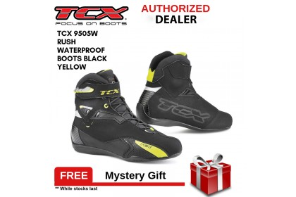 TCX 9505W Rush Waterproof Boots (Black/Yellow)