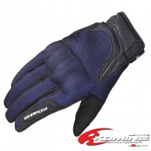 KOMINE GK-194 Protect Leather Mesh Gloves Guren (Blue)