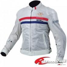 KOMINE JK-068 Protect Ride Mesh Jacket DECIUS (Silver)