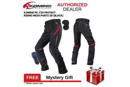 KOMINE PK-729 Protect Riding Mesh Pants 3D (Black)