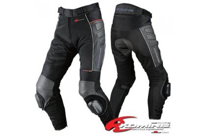KOMINE PK-709 Knee Slider Leather Mesh Pant (Black)