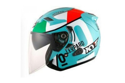 KYT Helmet Venom Open Face Locatelli Leopard