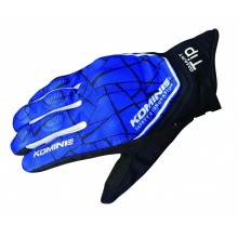 KOMINE GK-191 CE Protect Mesh Gloves AKOU (Blue/Black)