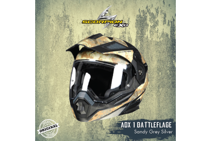 Scorpion Exo ADX-1 Battleflage Sandy Grey Helmet