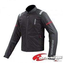Komine JK-116 Protect Half Mesh Jacket (Black/Red)