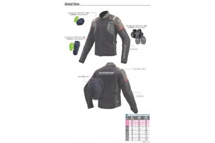Komine JK-116 Protect Half Mesh Jacket (Black/Red)