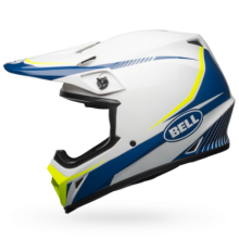 Bell MX-9 MIPS-Equipped Torch White/Blue/Yellow