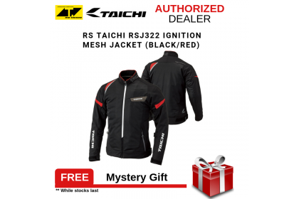 RS Taichi RSJ322 Ignition Mesh Jacket (Black/Red)