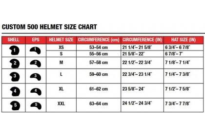 BELL Helmet Custom 500 (Gloss Ace Stadium Silver/Black)