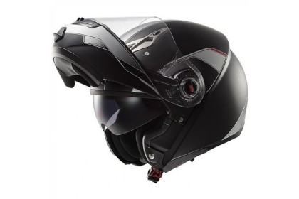 LS2 FF370 Helmet (Matt Black/White Shadow)