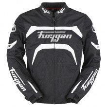 Furygan Arrow Vented Jacket (Black/White)