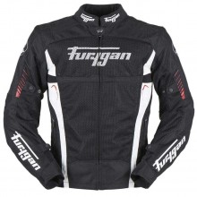 Furygan Swirl Vented 3 in 1 Jacket (Black/Red)