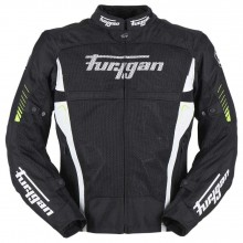 Furygan Swirl Vented 3 in 1 Jacket (Black/Neon)