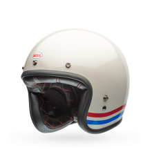 Bell Helmet Custom 500 (Stripes Pearl White)