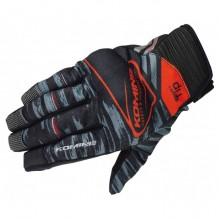 KOMINE GK-219 Protect Mesh Gloves Brave (Black/Red)