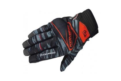 KOMINE GK-219 Protect Mesh Gloves Brave (Black/Red)