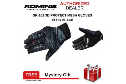 Komine GK-219 Protect Mesh Gloves (Black)