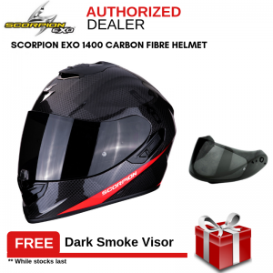 Scorpion Exo 1400 Air Carbon Pure Fluo Red Full Face Helmet
