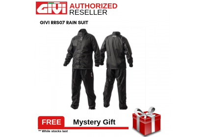 GIVI RRS07 Rider Tech Rainsuit Grey