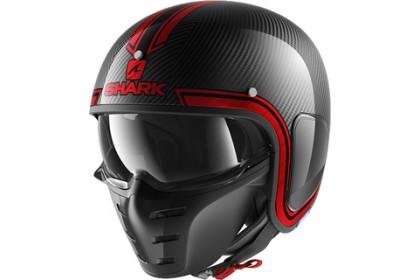 Shark S-Drak Carbon Vinta (DUR) Red Carbon Open Face Helmet