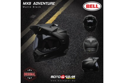 Bell Helmet MX-9 Matt Black Adventure Full Face
