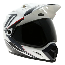 Bell Helmet MX-9 Barricade White Adventure Full Face