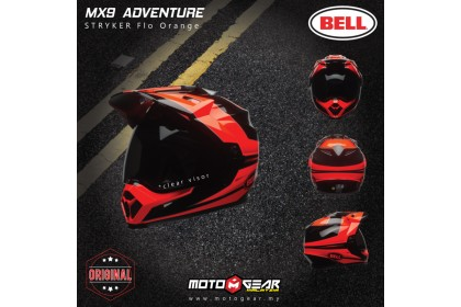 Bell Helmet MX-9 Stryker Fluo Orange Adventure Full Face