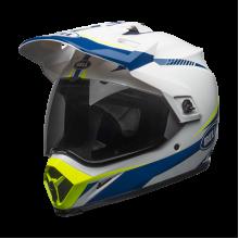 Bell Helmet MX-9 Torch Blue White Yellow Adventure Full Face