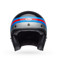 Bell Custom 500 Pulse Gloss Black/Blue/Red Openface Helmet